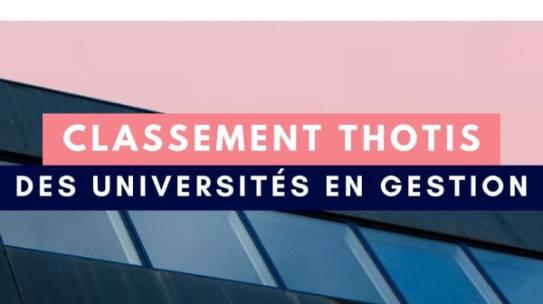 L'IAE DIJON dans le top 10 du classement Thotis des universités en gestion